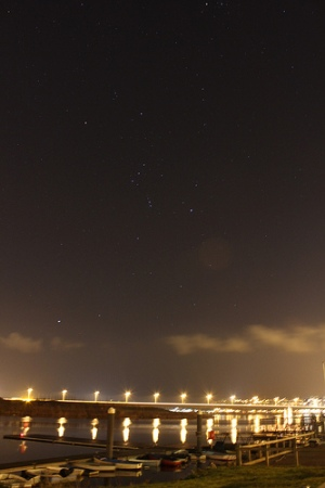 Orion over Cardiff. Credit: Stuart Lowe